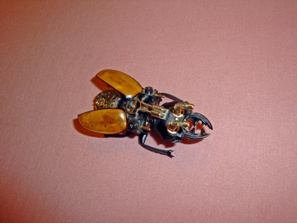 Мои насекомые Steampunk bugs. Жук-Олень. (Фото 6)