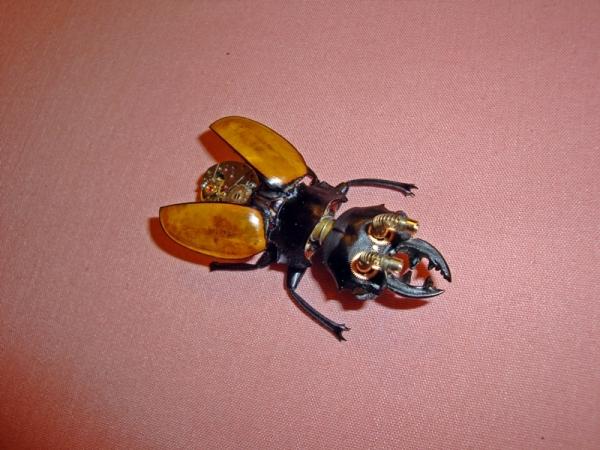 Мои насекомые Steampunk bugs. Жук-Олень. (Фото 5)