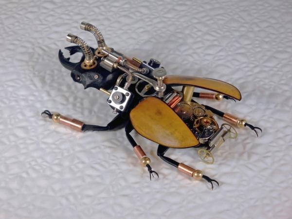 Мои насекомые Steampunk bugs. Жук-Олень. (Фото 8)