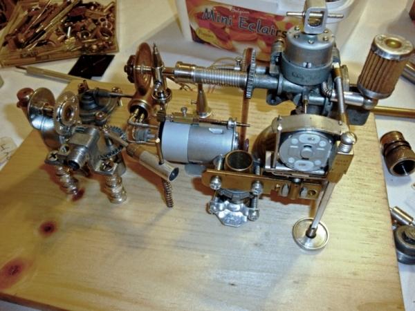 Dieselpunk часы. (Фото 3)
