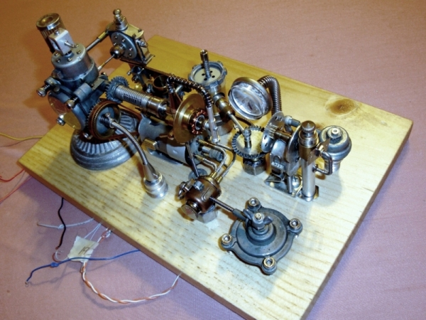 Dieselpunk часы. (Фото 6)