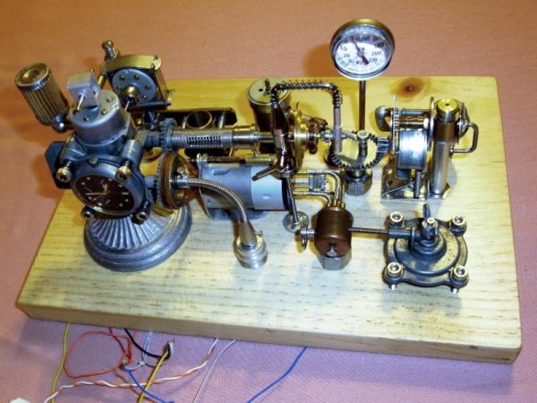 Dieselpunk часы. (Фото 4)