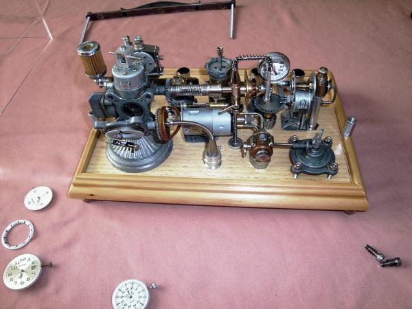 Dieselpunk часы. (Фото 8)