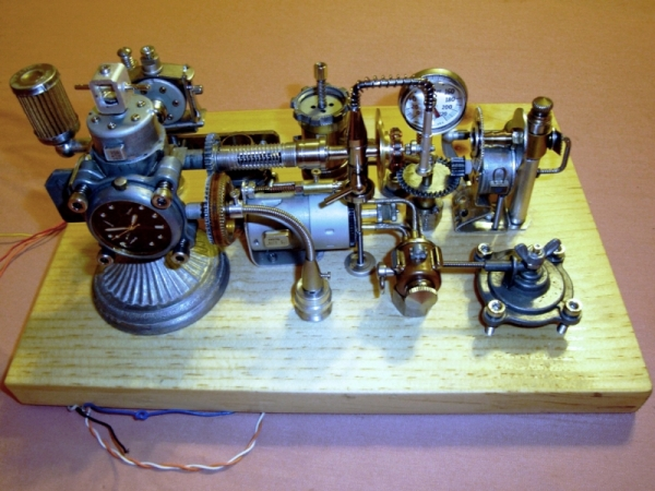 Dieselpunk часы. (Фото 5)