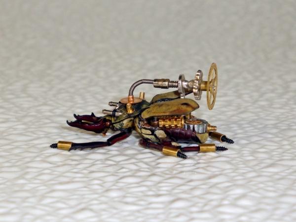 Мои насекомые Steampunk bugs. Жук-Рогач. (Фото 11)