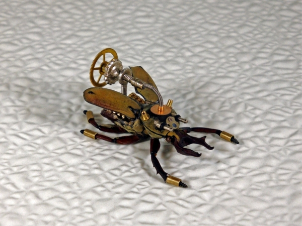 Мои насекомые Steampunk bugs. Жук-Рогач. (Фото 10)