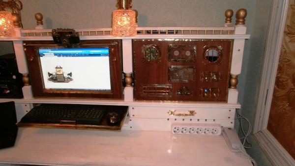 А вот и системник в деревянном корпусе....продолжение проекта. (Фото 88)
