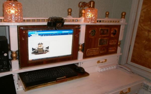 А вот и системник в деревянном корпусе....продолжение проекта. (Фото 91)