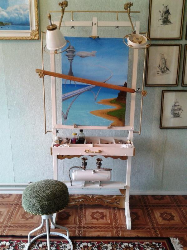 Мольберт- мечта художника стимпанкера....(незаконченный) (Фото 23)