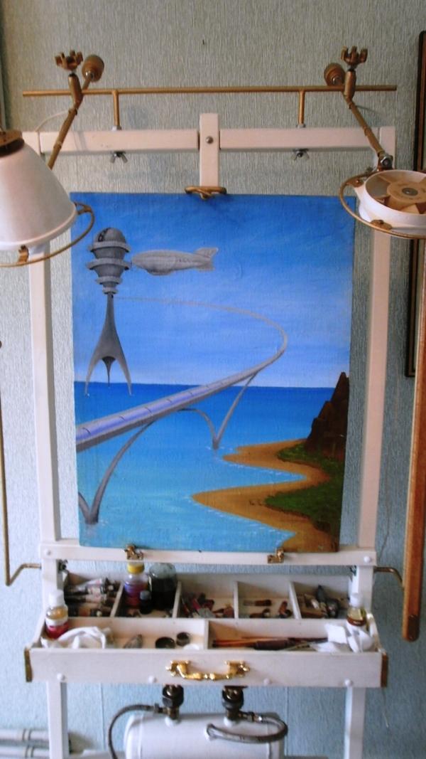 Мольберт- мечта художника стимпанкера....(незаконченный) (Фото 15)