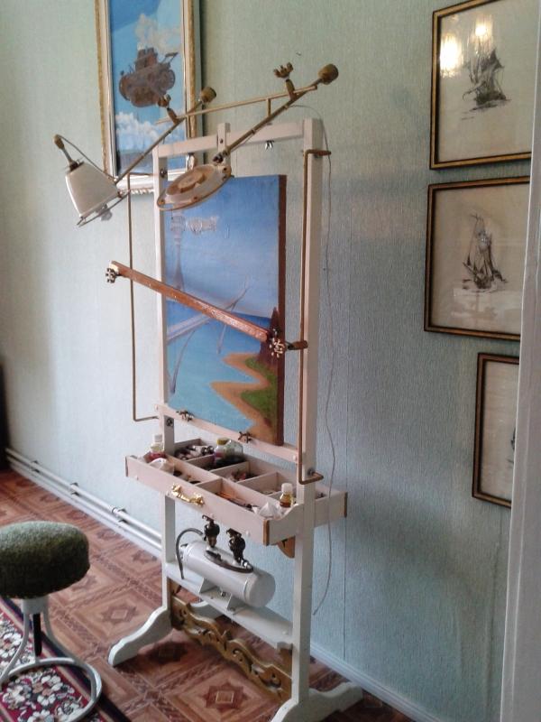 Мольберт- мечта художника стимпанкера....(незаконченный) (Фото 21)