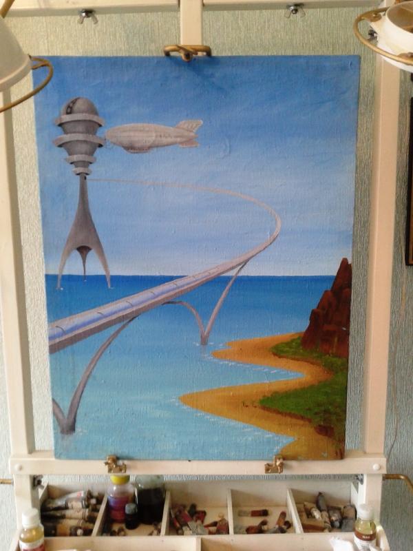 Мольберт- мечта художника стимпанкера....(незаконченный)