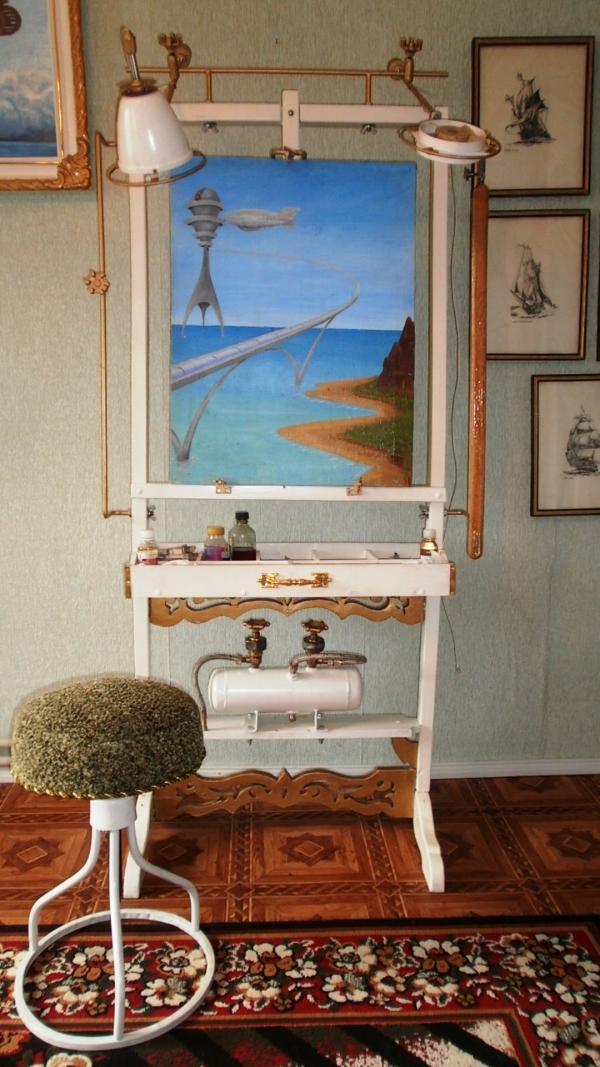 Мольберт- мечта художника стимпанкера....(незаконченный) (Фото 17)