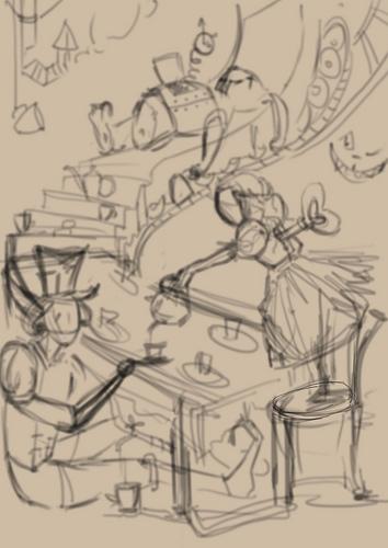 """К конкурсу художников и иллюстраторов - """"Безумное чаепитие"""". Burrrka"""