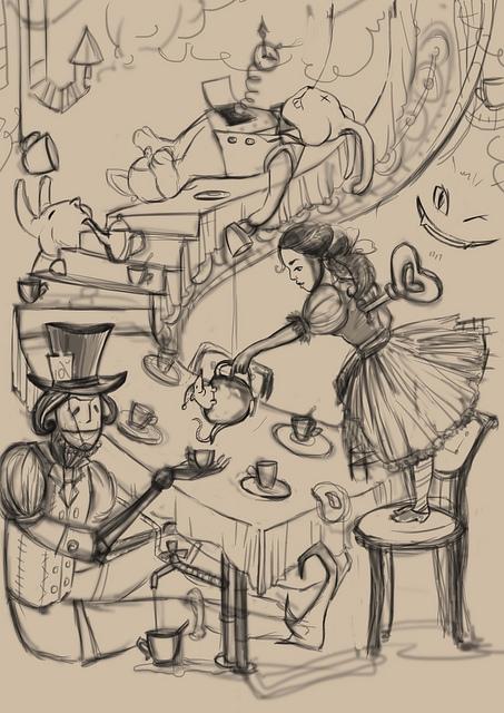 """К конкурсу художников и иллюстраторов - """"Безумное чаепитие"""". Burrrka (Фото 2)"""