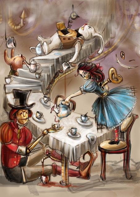 """К конкурсу художников и иллюстраторов - """"Безумное чаепитие"""". Burrrka (Фото 4)"""