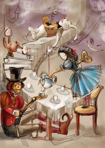 """К конкурсу художников и иллюстраторов - """"Безумное чаепитие"""". Burrrka (Фото 3)"""