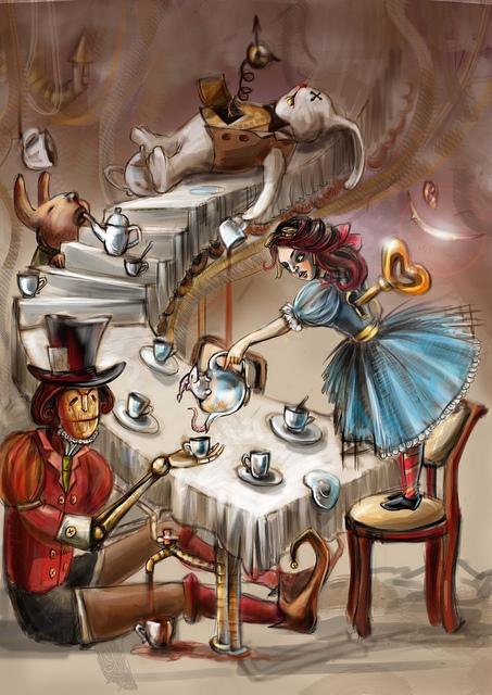 """К конкурсу художников и иллюстраторов - """"Безумное чаепитие"""". Burrrka (Фото 5)"""