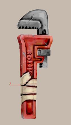 Модель разводного ключа из арсенала конструктора Гедвиг