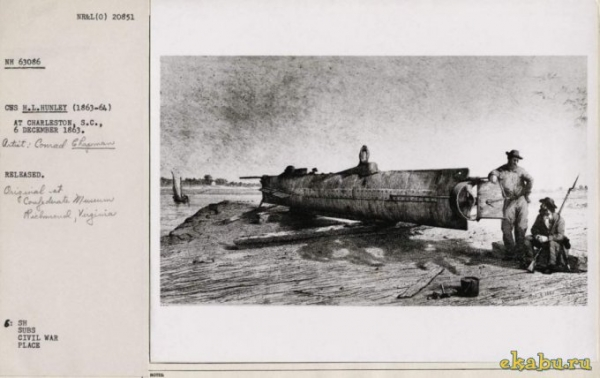 Подводная лодка времен Гражданской войны Севера и Юга (Фото 6)