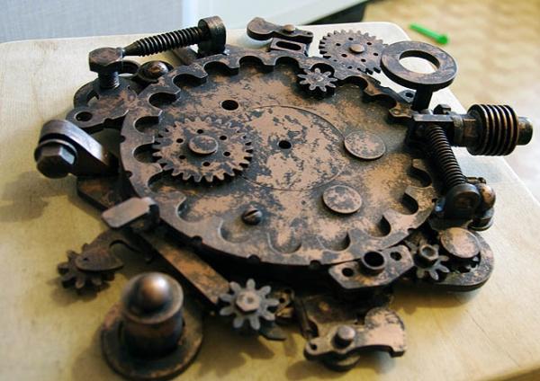 Настенные часы в стиле steampunk