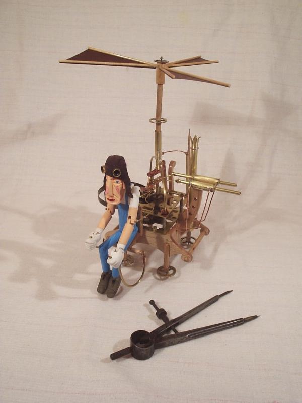 """Паровой вертолёт """"Леонардо"""". (экспериментальная модель. в серию не пошёл)"""