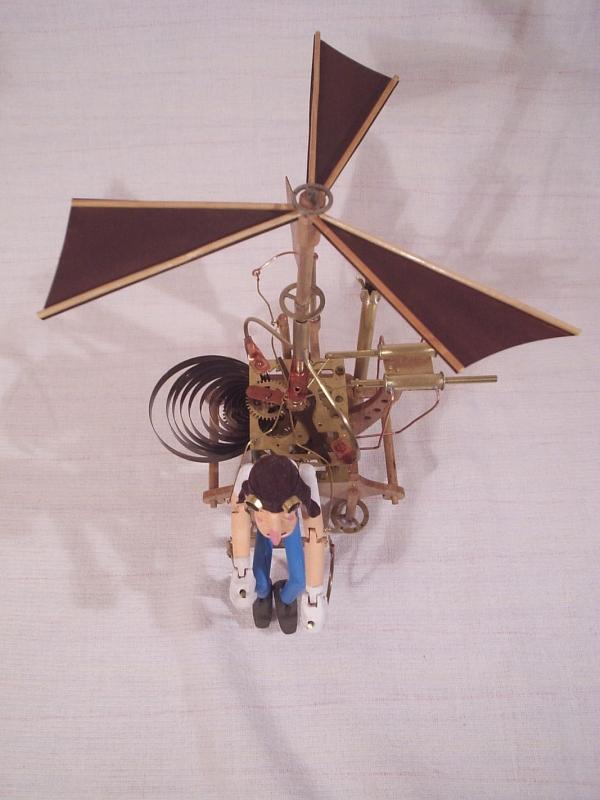"""Паровой вертолёт """"Леонардо"""". (экспериментальная модель. в серию не пошёл) (Фото 3)"""