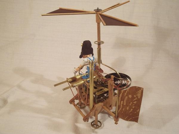 """Паровой вертолёт """"Леонардо"""". (экспериментальная модель. в серию не пошёл) (Фото 5)"""