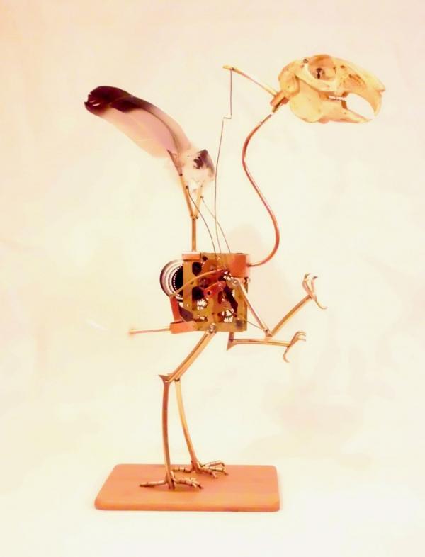 Стимпанк птичка. Археоптерикс.