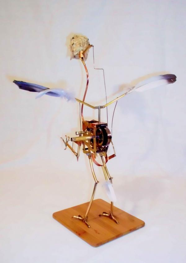 Стимпанк птичка. Археоптерикс. (Фото 6)
