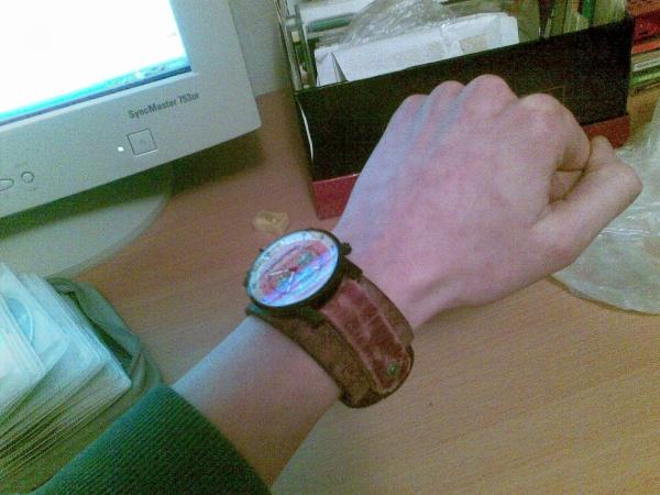 Первая работа-ремень для часов. (Фото 3)