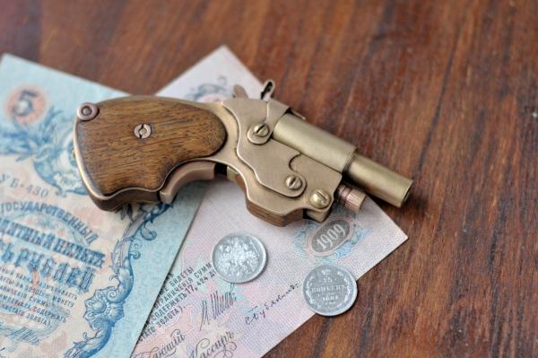 Аксессуар для истинных Леди и Джентльменов.)) Steampunk pocket pistol ! (Фото 6)