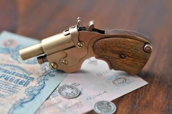 Аксессуар для истинных Леди и Джентльменов.)) Steampunk pocket pistol ! (Фото 5)