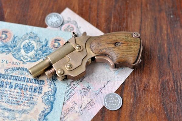 Аксессуар для истинных Леди и Джентльменов.)) Steampunk pocket pistol ! (Фото 3)