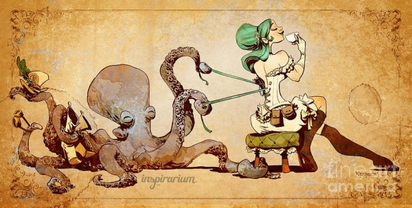 Brian Kesinger «An octopus is a lady's best friend!» (Фото 2)
