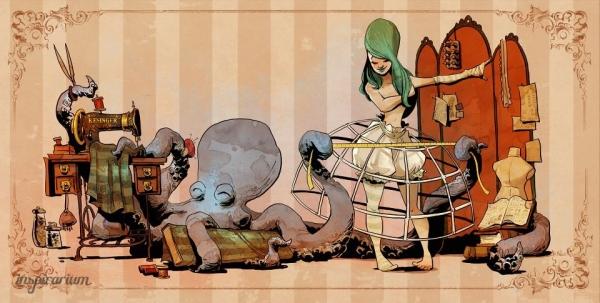 Brian Kesinger «An octopus is a lady's best friend!» (Фото 4)