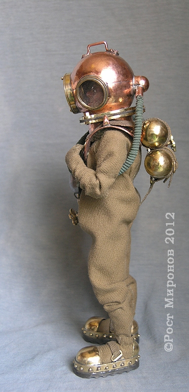 """Боевой водолаз, гальванёр-рулевой подводно-диверсионного механизма. Из серии проекта """"Русскiй стимпанкъ"""" (Фото 2)"""