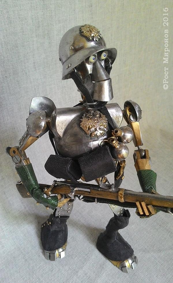 Проект «Русский стимпанк» Серия  «Стальная механическая гальваническая мощь Российской Империи». Механический солдат (МС)