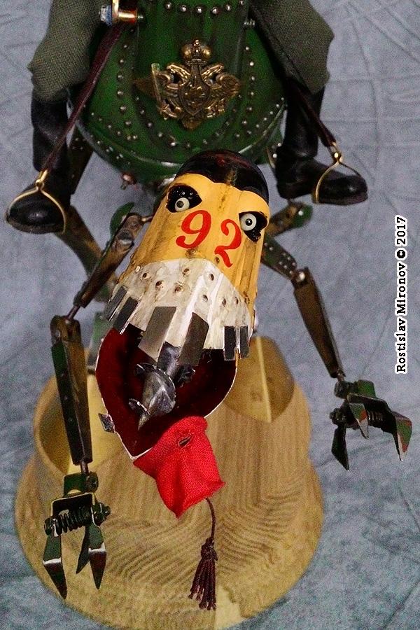 Проект «Русский стимпанк». Серия «Стальная механическая гальваническая мощь Российской Империи». Механический Гальванический топтун-самец (МГТ-12С).