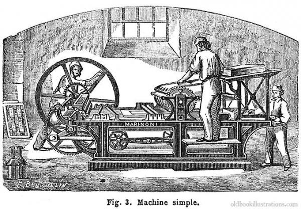 Типографское дело или страрые гравюры Старых печатных машын... (Фото 8)