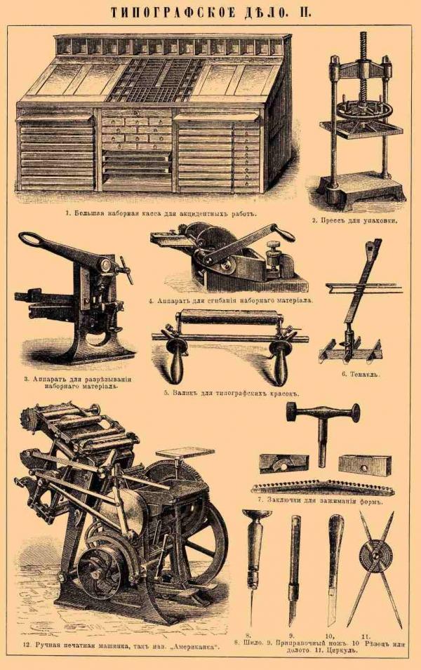 Типографское дело или страрые гравюры Старых печатных машын... (Фото 3)