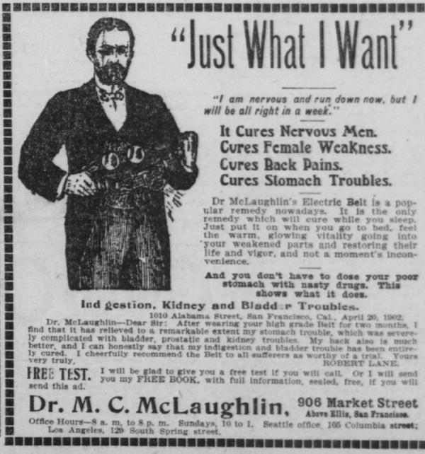 Лечение электричеством для нервных и ослабленных (1900-1910) (Фото 2)