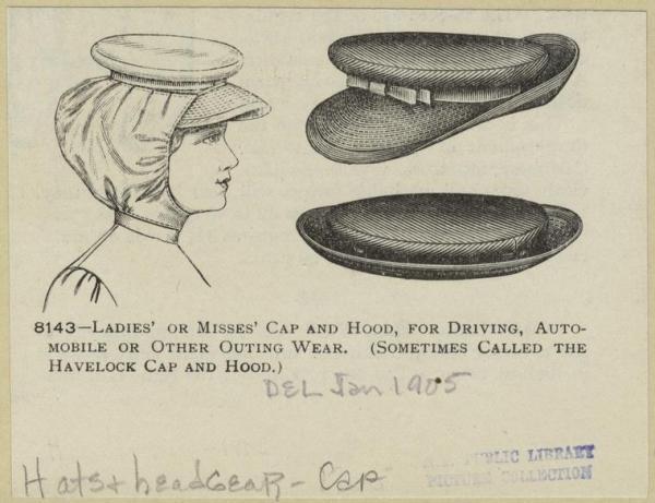Кепи для водительниц (1905)