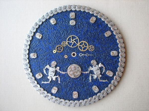 Настенные часы в стиле стимпанк (псевдостимпанк) (Фото 9)