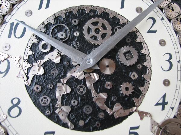 Настенные часы в стиле стимпанк (псевдостимпанк) (Фото 4)