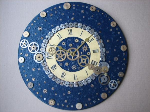 Настенные часы в стиле стимпанк (псевдостимпанк) (Фото 5)