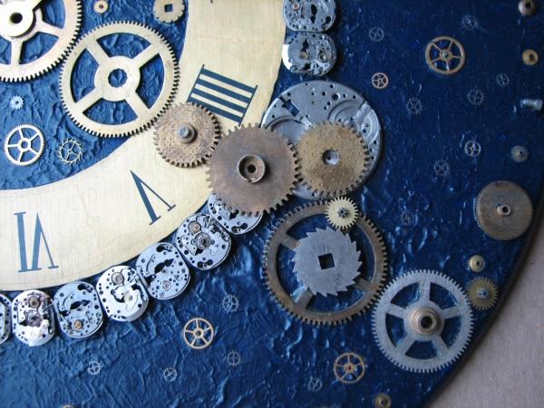 Настенные часы в стиле стимпанк (псевдостимпанк) (Фото 2)