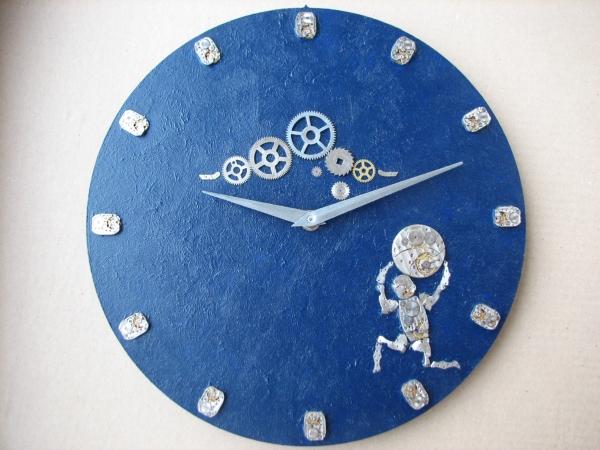 Настенные часы в стиле стимпанк (псевдостимпанк)
