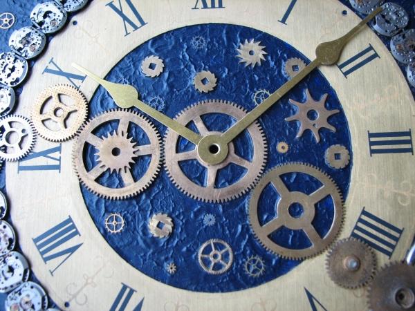 Настенные часы в стиле стимпанк (псевдостимпанк) (Фото 10)