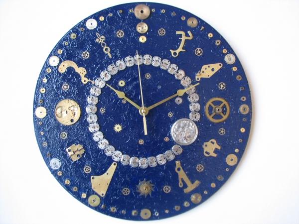 Настенные часы в стиле стимпанк (псевдостимпанк) (Фото 8)